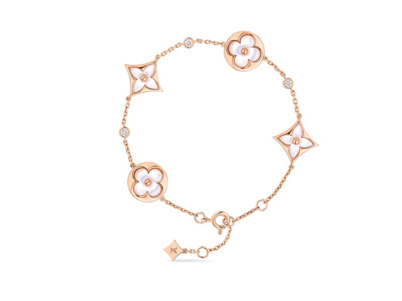 LOUIS-VUITTON-bracciale-oro-ora-madreperla-e-diamanti