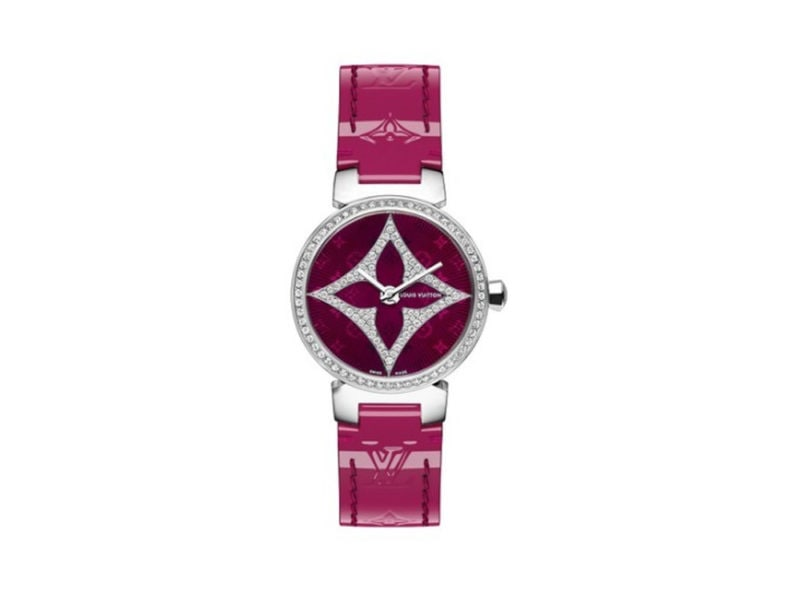 LV-OROLOGIO-TAMBOUR–SLIM-STAR-28-COLOR-MAGENTA-