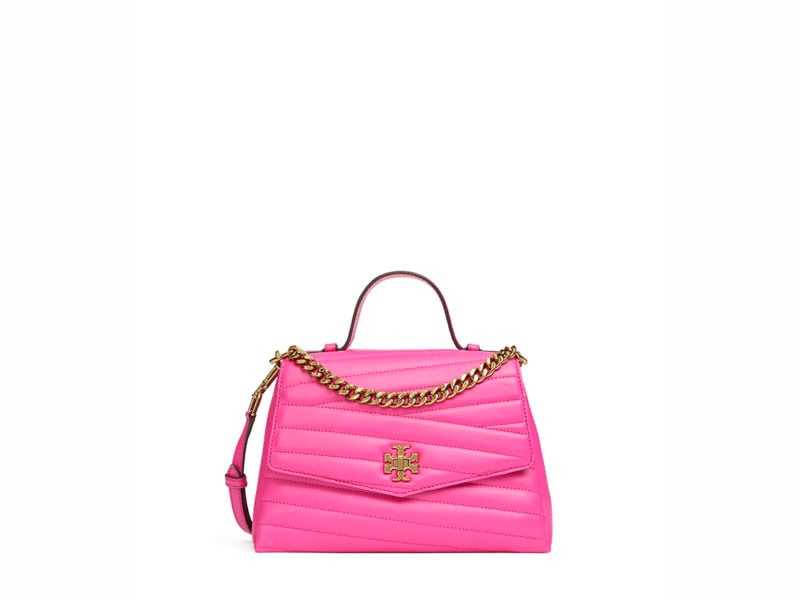 TB Kira Chevron Small Top-Handle Satchel 61674 in Crazy Pink