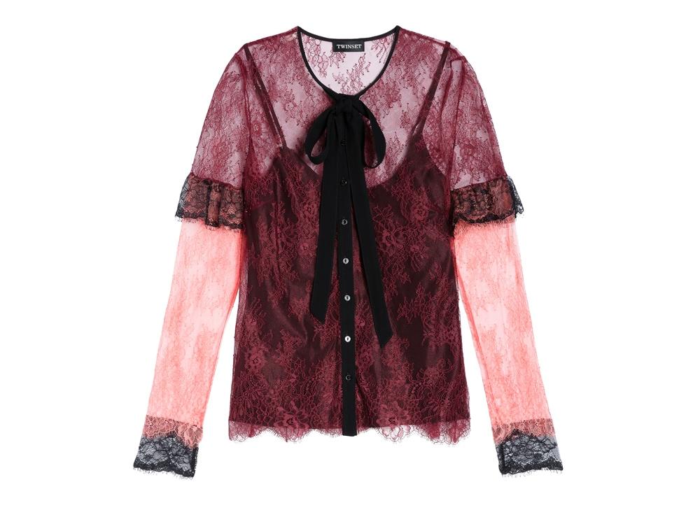 TWINSET-camicia-in-pizzo-valencienne-multicolor-