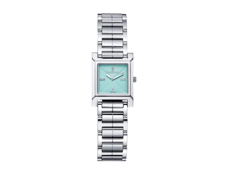 Tiffany-orologio-in-acciaio-inossidabile-e-quadrante-square-in-color-tiffany-