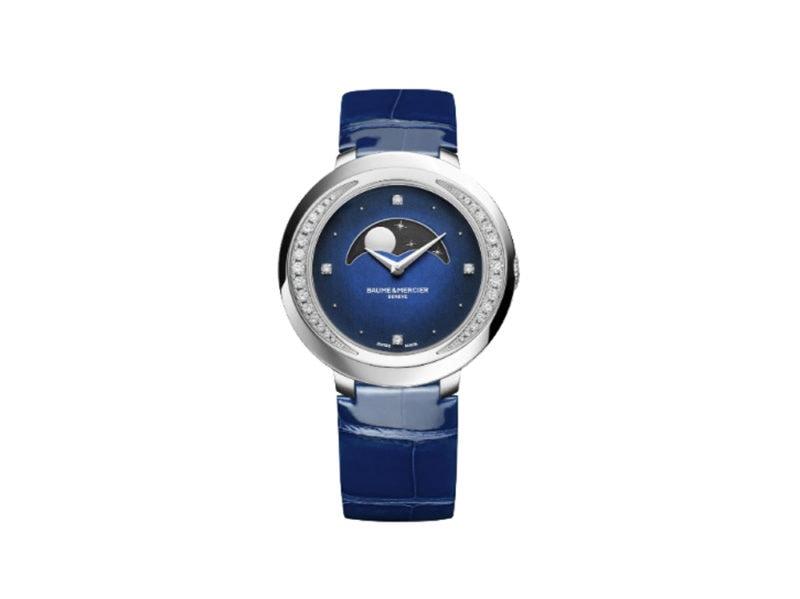 baume-&-mercier-Promesse-10347-orologio-al-quarzo-con-diamanti-e-fasi-lunari–
