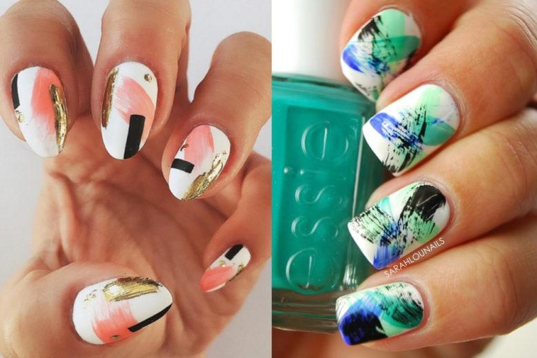 Nail stroke manicure: la nail art di tendenza con pennellate di colore