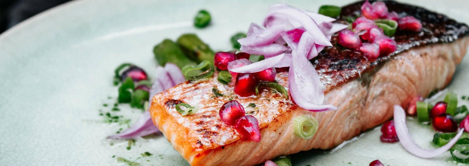 salmone melograno