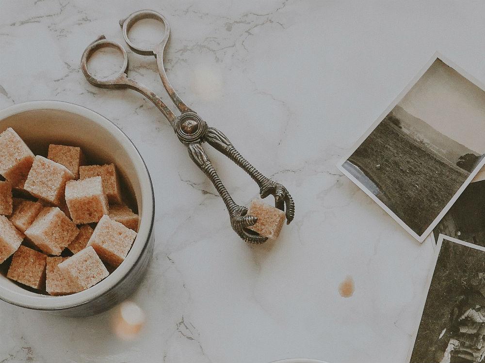 zollette di zucchero tazza cocco