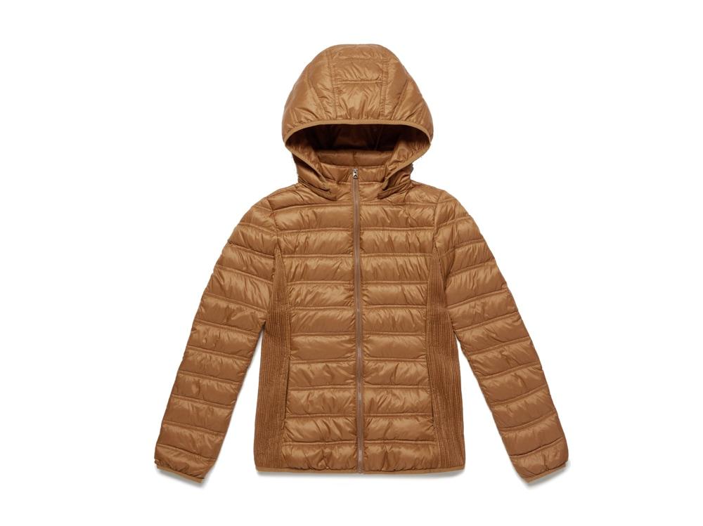 BENETTON-piumino-leggero-brown-con-zip