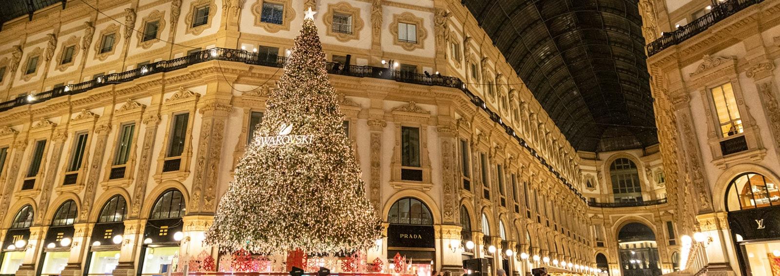 Swarovski illumina Milano con il suo sfavillante albero di Natale