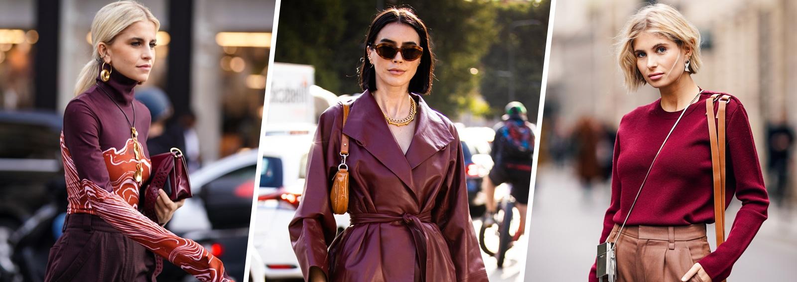 Come indossare il bordeaux: 5 look mix & match perfetti per la stagione