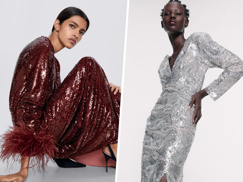 Zara: i vestiti di paillettes perfetti per gli outfit di