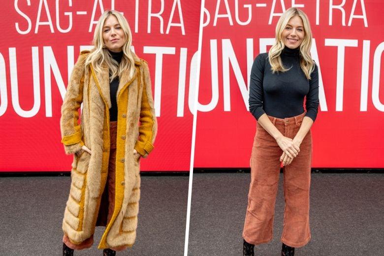 Il cappotto di pelliccia conquista anche Sienna Miller: prendete spunto dal suo look