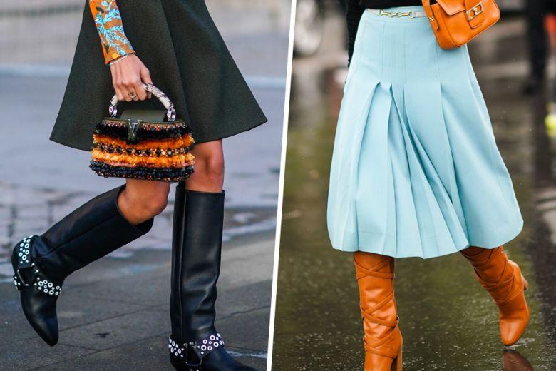Gonna e stivali: 6 abbinamenti stilosissimi da provare subito