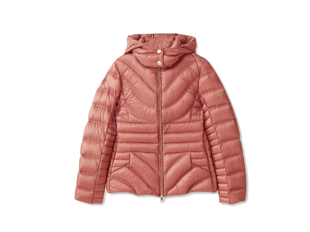 LIU-JO-piumino-corto-leggero-rosa-con-cappuccio-removibile