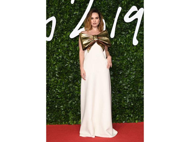 Lily-James-in-Valentino-Haute-Couture-getty