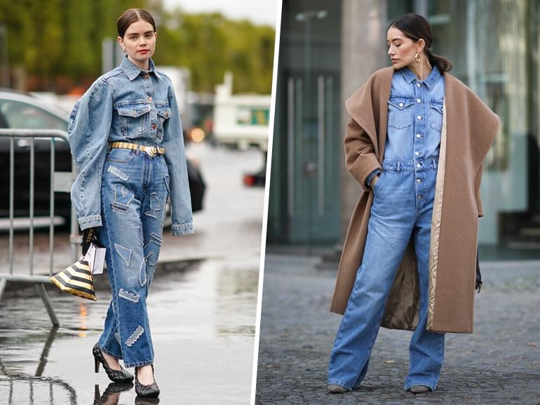 Giacca di jeans Pinko in denim con logo all over