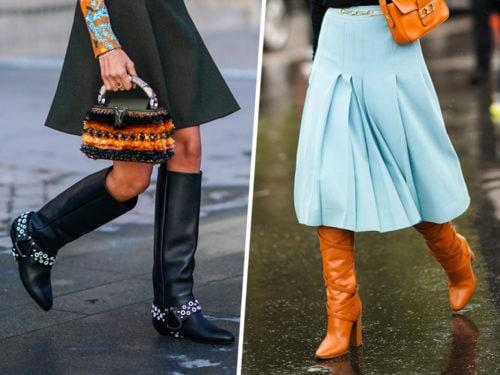 taglia 40 713b7 c08d5 Gonne e stivali: come indossarli in 5 abbinamenti e look chic