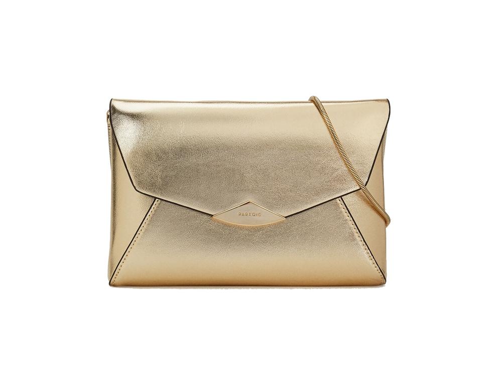 PARFOIS-pochette-dorata-con-tracolla-a-catena
