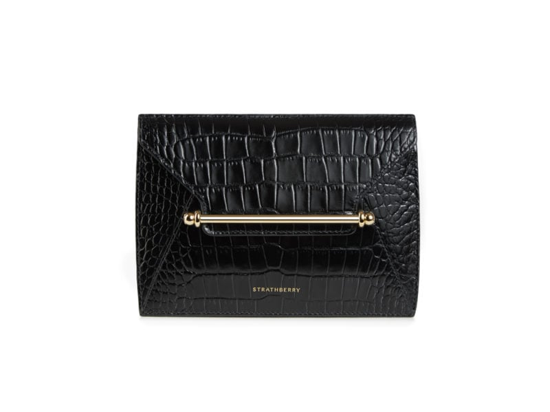 The-Strathberry_Envelope-Pouch_Black_Front