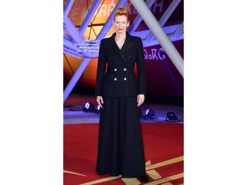 Tilda-Swinton-al-2019-Marrakech-Film-Festival-in-Chanel-Haute-Couture-getty
