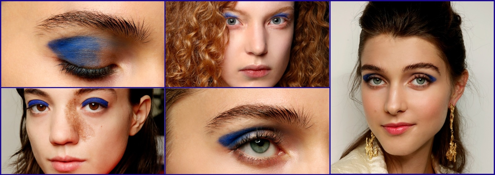 beauty look classic blue pantone 2020 trucco blu make up idee da copiare cover desktop