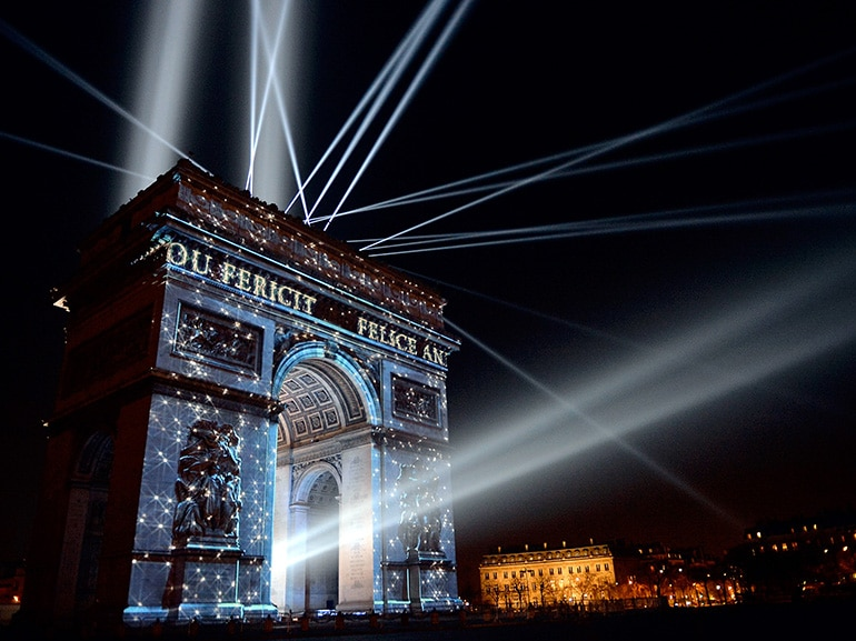 New Year Celebration In Paris, France On December 31st