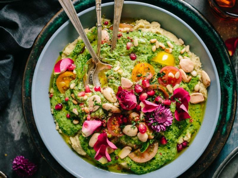 ciotola verdura alghe