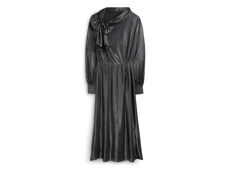 metallizzato-Primark-Limited-Edition-Donna–Metallic-Pussybow-Dress,-£25-€30