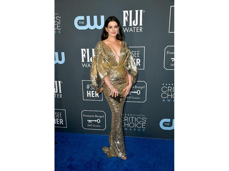 Anne-Hathaway-In-Atelier-Versace-critics-choice-getty