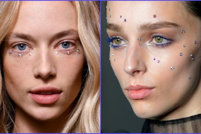 Crystal make up: il trucco con gli strass per brillare