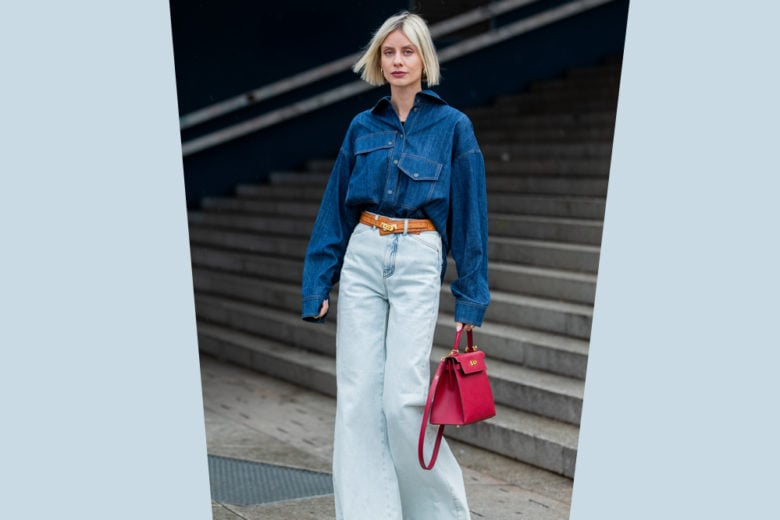 Come indossare il total denim in versione facile e  super chic