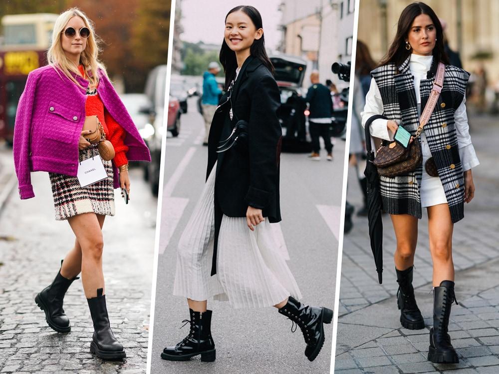 Gonna + Anfibi: 5 look per indossare la combo più cool del momento