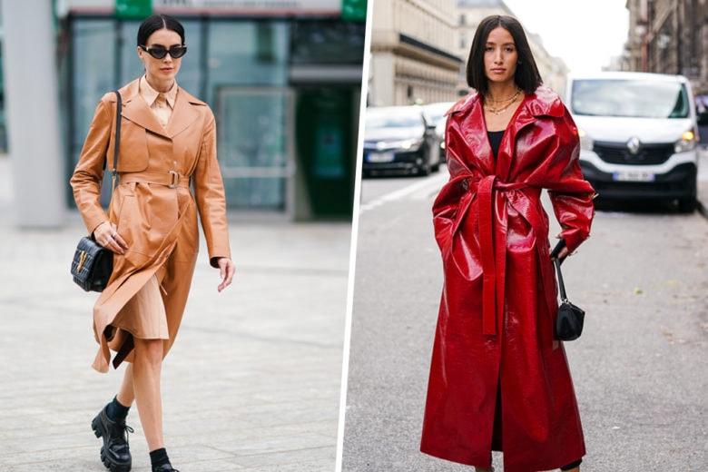 Il trench di pelle sarà il vostro alleato fashion nel passaggio di stagione