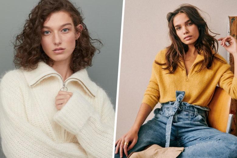 Non solo per lui: il pullover con la zip è un must anche del guardaroba femminile