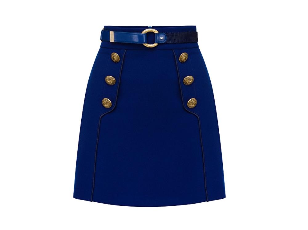 elisabetta-franchi-minigonna-blu-capri-con-bottoni-laterali-