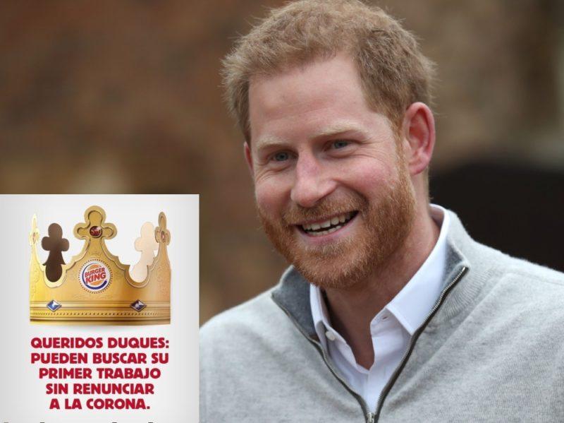 Burger King ha offerto un lavoro al principe Harry