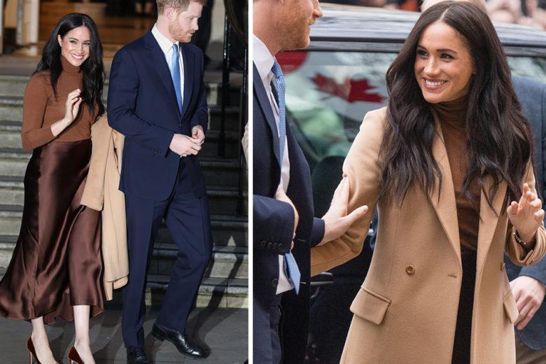 """Il look di Meghan Markle """"total brown"""" è tanto semplice quanto elegante!"""
