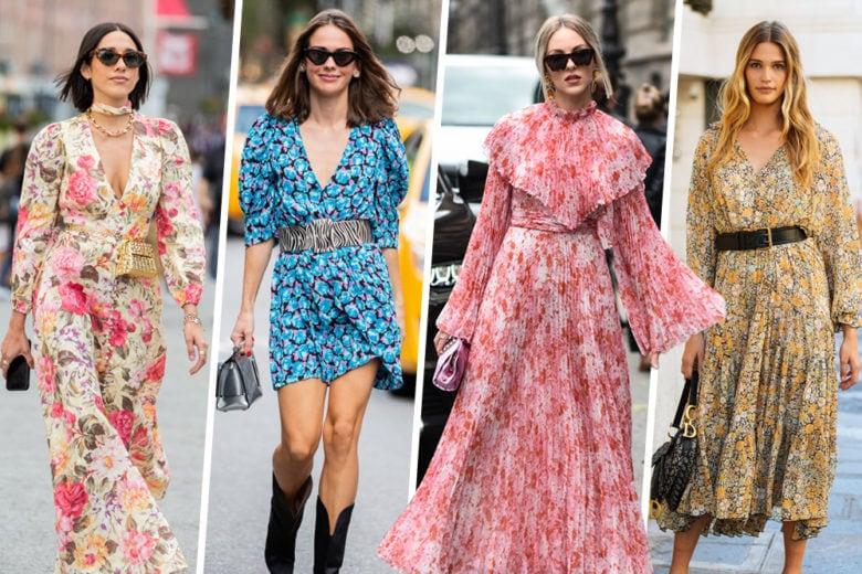 Con questi vestiti a fiori sentirete già aria di primavera