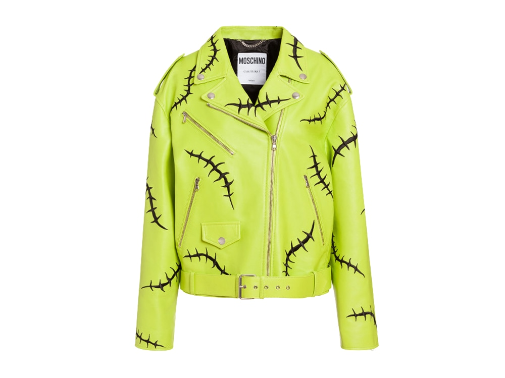 MOSCHINO-biker-in-nappa-verde-acido