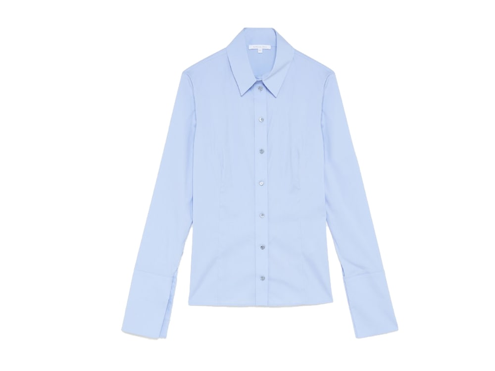 PATRIZIA-PEPE-camicia-a-manica-lunga-vestibilità-slim-