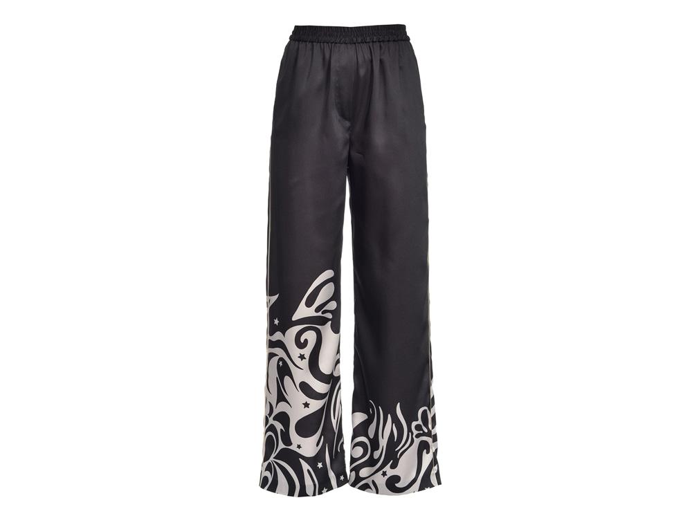 PINKO-pantaloni-ampi-stampa-japan