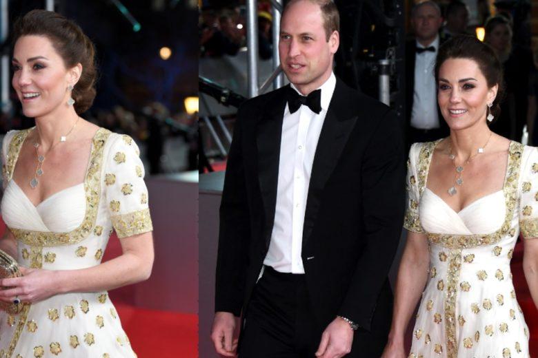 Kate Middleton: ai BAFTA ricicla un abito per lanciare un messaggio di sostenibilità