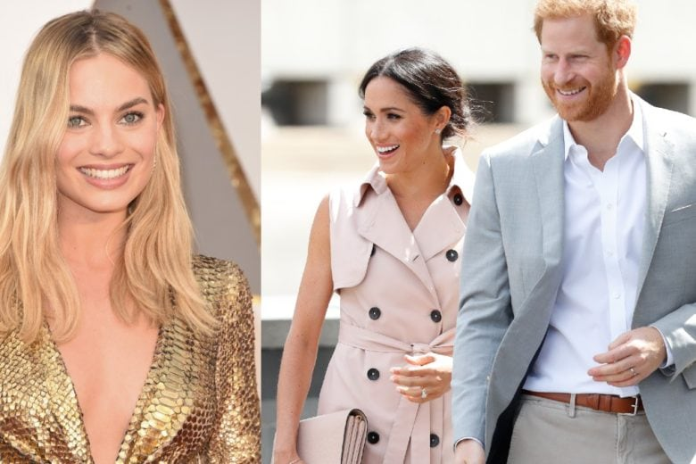 Margot Robbie invita a cena Harry e Meghan: «Non è facile, li capisco»