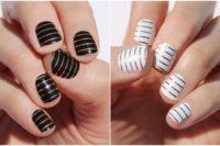 Nail art a righe: la striped manicure da provare adesso