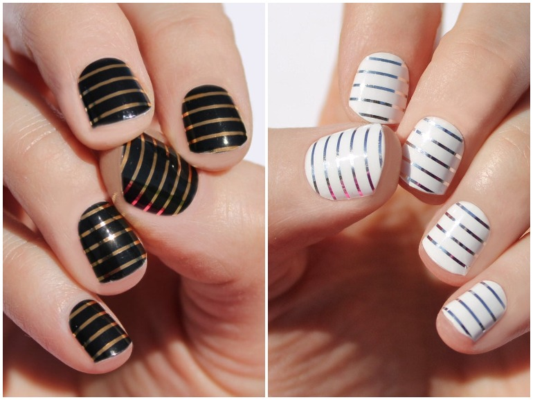 unghie a righe nail art 2020 cover mobile