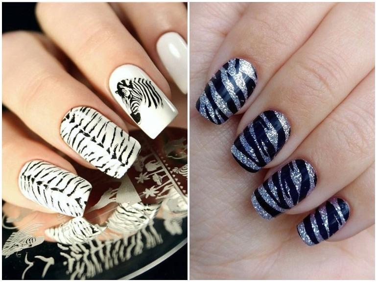 unghie zebrate zebra nail art cover mobile