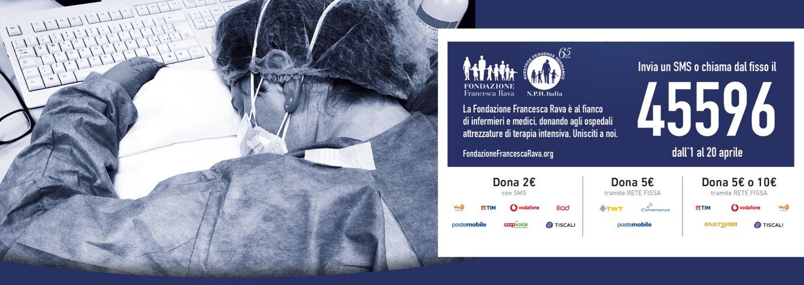 Campagna Fondazione Rava Coronavirus DESK