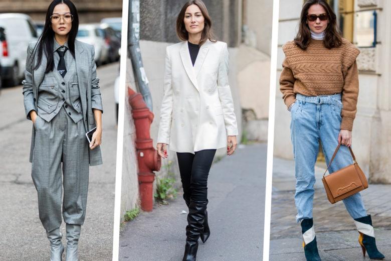 Come indossare i pantaloni dentro gli stivali, il trend del momento