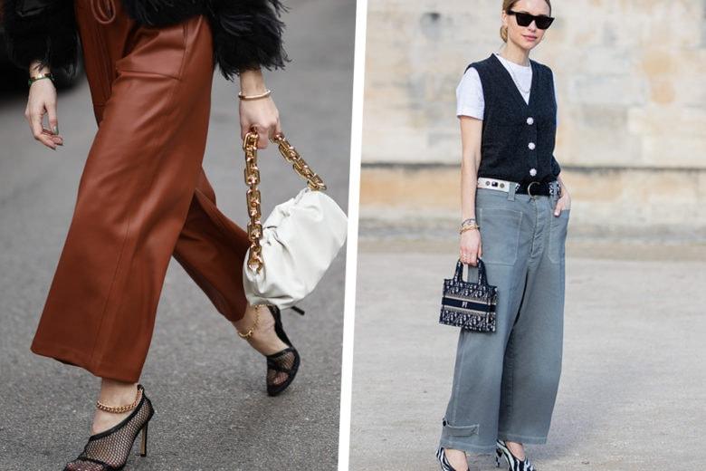 Pantaloni larghi: ecco con che scarpe indossarli questa Primavera!