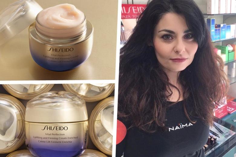 Perché con Vital Perfection di Shiseido e con i beauty tips di Naïma la vostra pelle sarà subito più luminosa e compatta