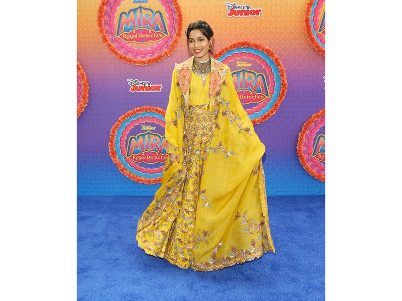 Freida-Pinto-in-Anamika-Khanna-attends-the-Los-Angeles-premiere-of-Disney-Junior's-'Mira,-Royal-Detective'