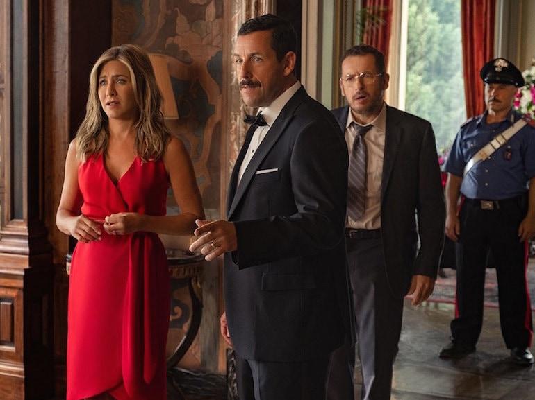 Jennifer Aniston coppia vestito rosso